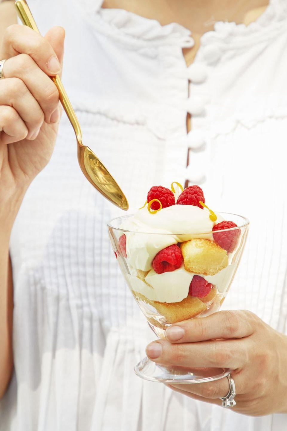 """<p>Pop these no-bake parfaits in the fridge until you're ready to wow your guests.</p><p><em><a href=""""https://www.goodhousekeeping.com/food-recipes/dessert/a22577243/lemon-mascarpone-parfaits-recipe/"""" rel=""""nofollow noopener"""" target=""""_blank"""" data-ylk=""""slk:Get the recipe for Lemon Mascarpone Parfaits »"""" class=""""link rapid-noclick-resp"""">Get the recipe for Lemon Mascarpone Parfaits »</a></em></p>"""