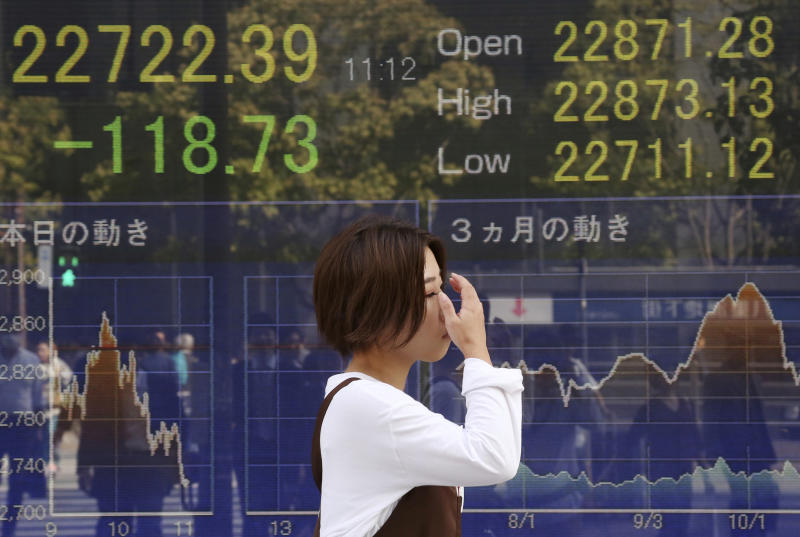 World stock markets mostly dip on Fed views on rates