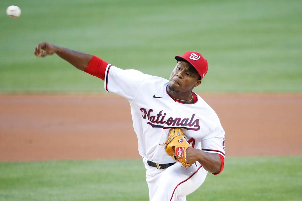 Josiah Gray threw five innings in his Nationals debut, allowing one earned run on four hits while striking out two and walking two.