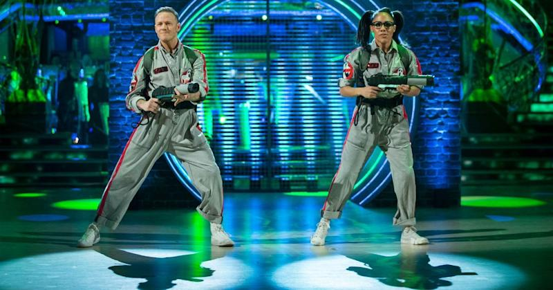 Kevin Clifton has had to stand in for Alex Scott's partner Neil Jones (Credit: BBC)