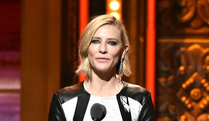 Cate Blanchett onstage at the Tony Awards in 2016