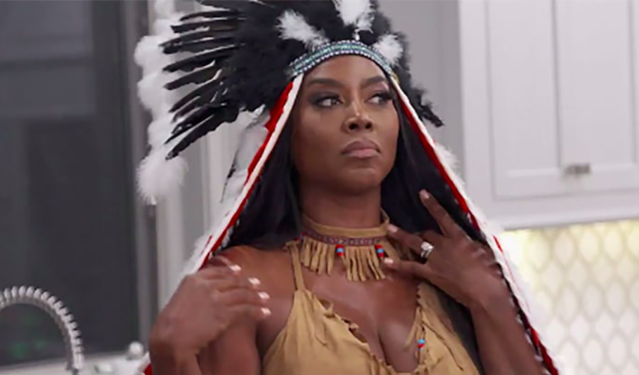 Kenya Moore wore a Native American 'warrior princess' costume on Bravo's