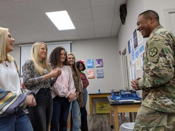 PHOTO: Gen. Vincent Buggs speaks to members of the senior class at David Emanuel Academy in Stillmore, Georgia. (David Emanuel Academy)