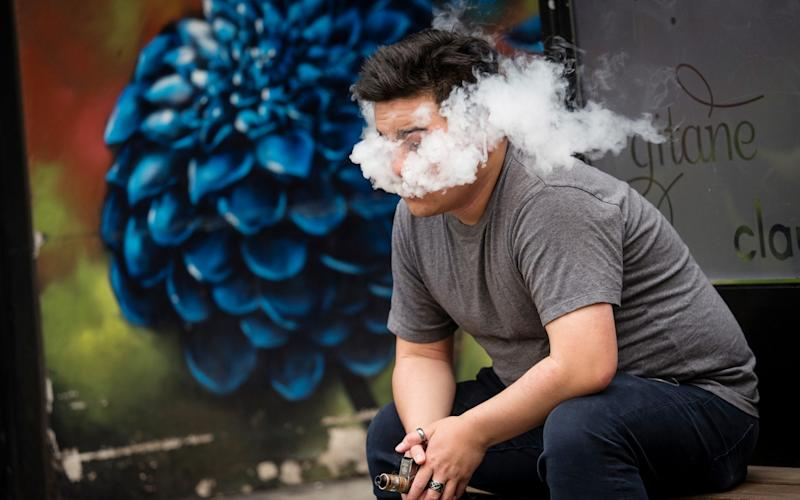 Around one in 16 adults now vapes, according to figures from the Department of Health - Bloomberg