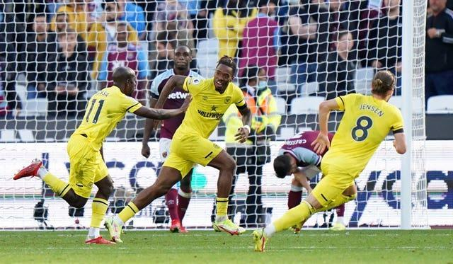 Brentford snatched a late win at West Ham on Sunday