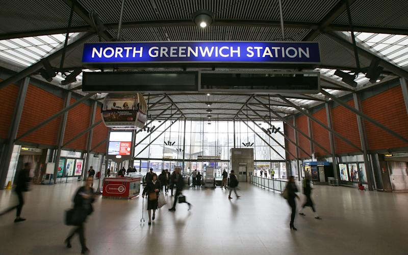 Passengers were ordered off a train at North Greenwich Station - Credit: AFP/Getty Images