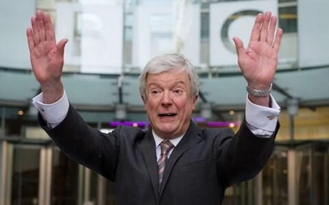 Lord Hall gestures as he arrives for his first day as director-general of the BBC at New Broadcasting House in central London on April 2, 2013 - Credit: AFP