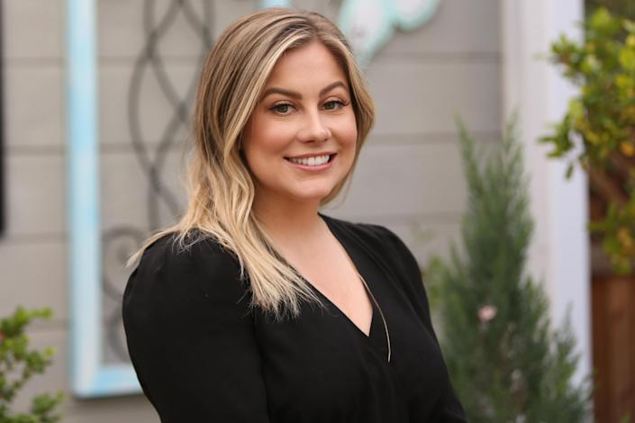 "Olympic Gymnast Shawn Johnson visits Hallmark's ""Home & Family"" at Universal Studios Hollywood on April 24, 2019 in Universal City, California. (Photo by Paul Archuleta/Getty Images)"