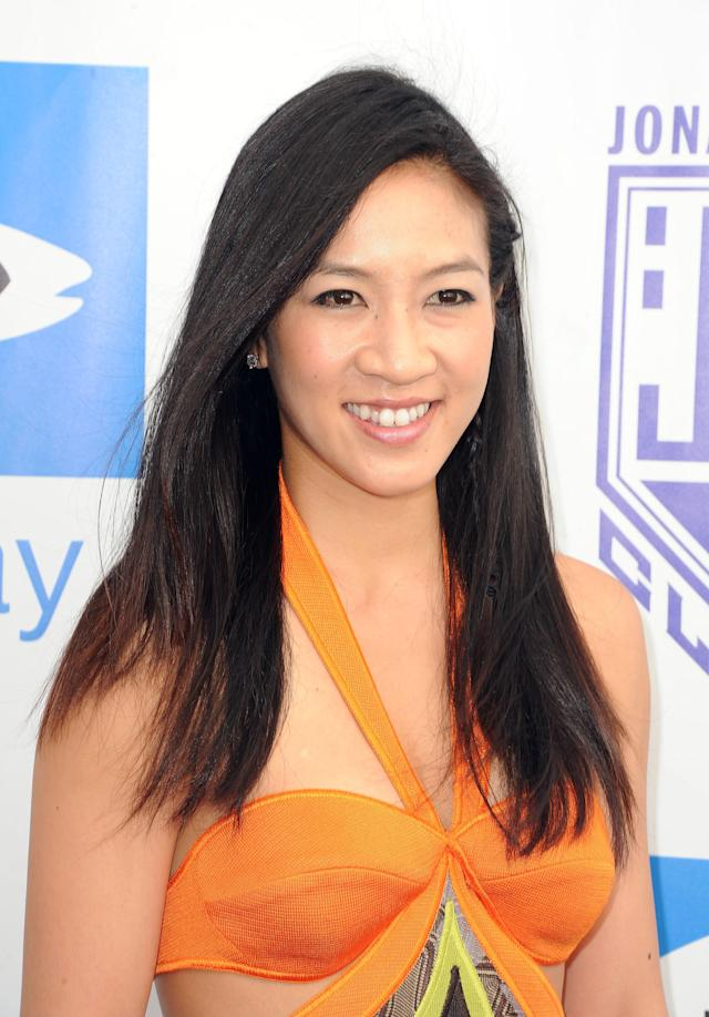 <p>Michelle Kwan arrives at Heal The Bay's Bring Back the Beach Gala in Santa Monica, Calif. (AP Photo/Katy Winn, File) </p>