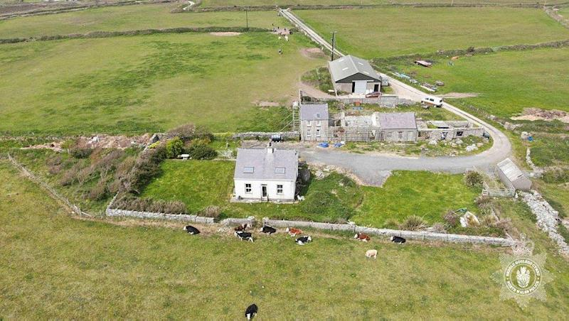 The remote Anglesey home of Gerald Corrigan. (North Wales Police/PA Images)