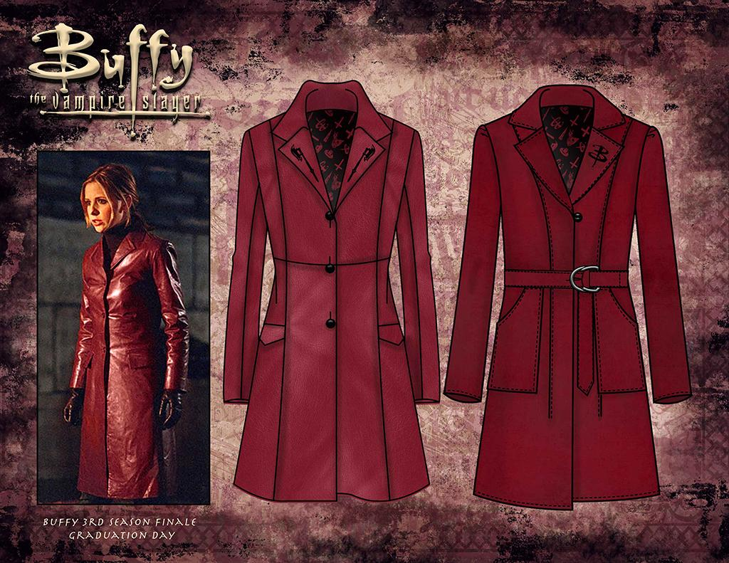 "<p>This summer, Hot Topic and AC/DC Apparel will debut a fashion line exclusively on <a rel=""nofollow"" href=""http://www.hottopic.com/homepage"">hottopic.com</a>. We've got three sneak peeks. First: a trench coat inspired by Buffy's timeless butt-kicking look in the final hour of the Season 3 finale. Price: $99.90. (Credit: Hot Topic) </p>"