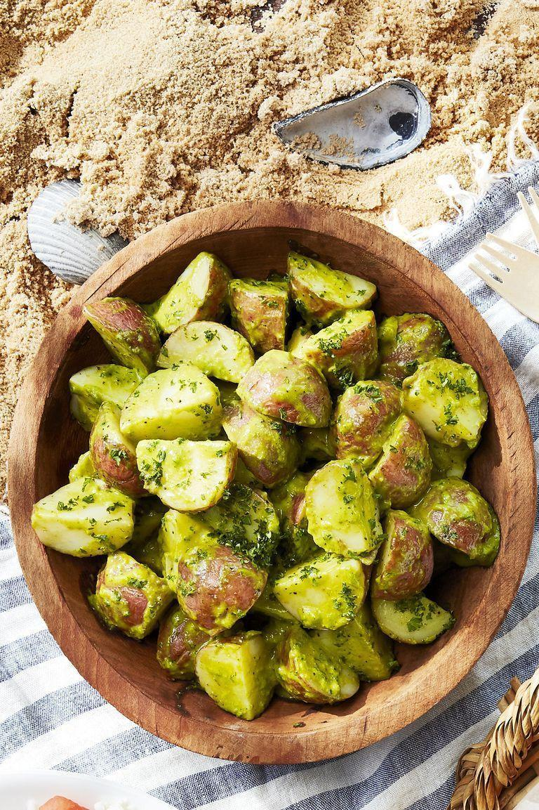 "<p>We're not here to knock the merits of an old-fashioned <a href=""https://www.countryliving.com/food-drinks/g1428/potato-salad-recipes/"" rel=""nofollow noopener"" target=""_blank"" data-ylk=""slk:potato salad"" class=""link rapid-noclick-resp"">potato salad</a>; we're just here to upgrade it. This chive-topped version isn't just free from mayo—it's doubly flavorful too, thanks to Dijon mustard and fresh herbs.</p><p><strong><a href=""https://www.countryliving.com/food-drinks/a27547262/chive-potato-salad-recipe/"" rel=""nofollow noopener"" target=""_blank"" data-ylk=""slk:Get the recipe"" class=""link rapid-noclick-resp"">Get the recipe</a>.</strong></p><p><a class=""link rapid-noclick-resp"" href=""https://www.amazon.com/Lipper-International-1188-Acacia-Servers/dp/B008EQAMNC?tag=syn-yahoo-20&ascsubtag=%5Bartid%7C10050.g.3663%5Bsrc%7Cyahoo-us"" rel=""nofollow noopener"" target=""_blank"" data-ylk=""slk:SHOP SALAD SERVERS"">SHOP SALAD SERVERS</a></p>"