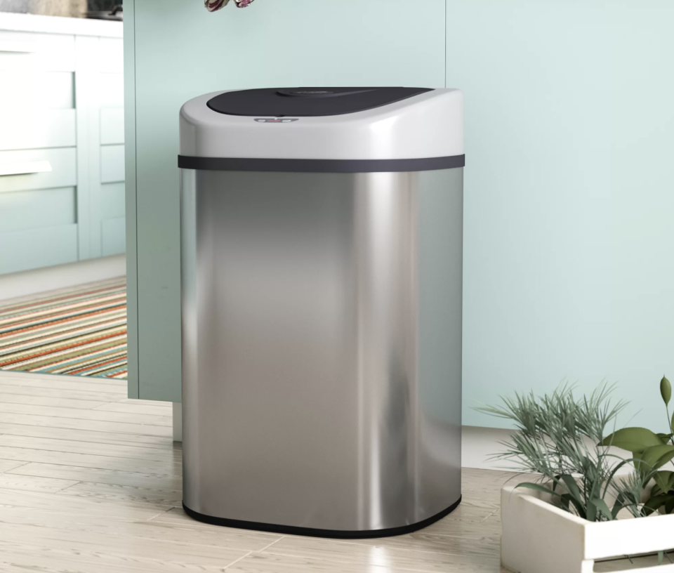 A smart trash can to fit your smart kitchen. (Photo: Wayfair)