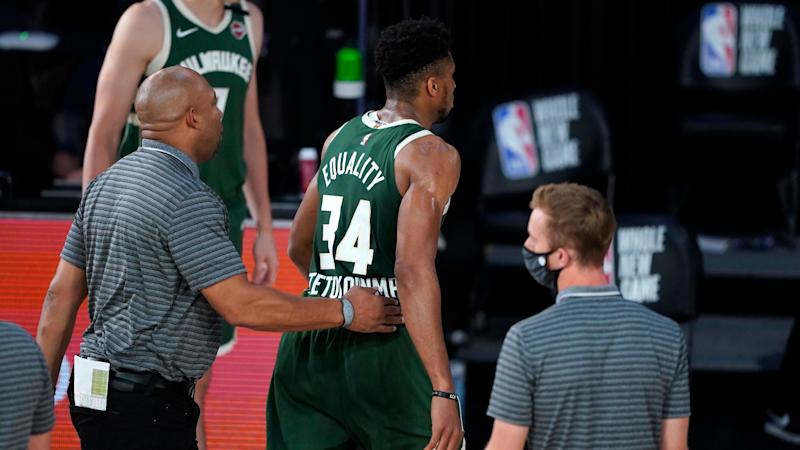 Giannis on 'terrible' headbutt: I've done a great job taking hits, but today was the day!