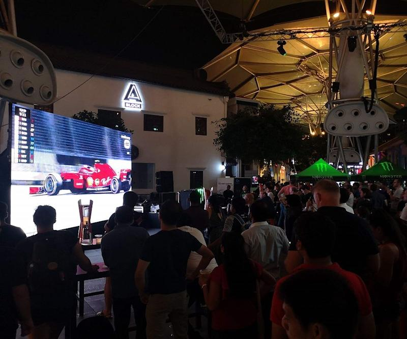 View the F1 race at Clarke Quay. (PHOTO: Capitaland Singapore)