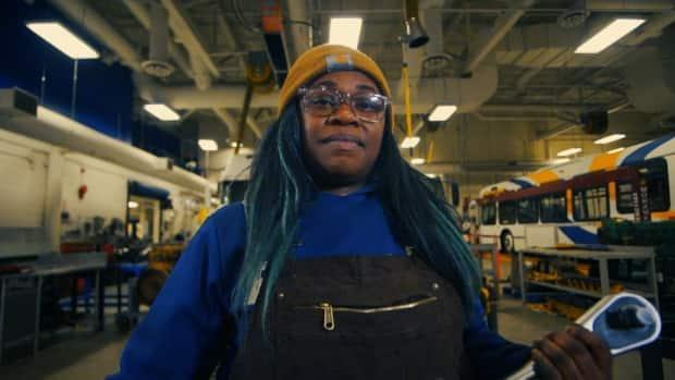 Saedene Simmons is one of the first African Nova Scotian women to study heavy-duty equipment and truck and transport repair at NSCC. (CBC - image credit)