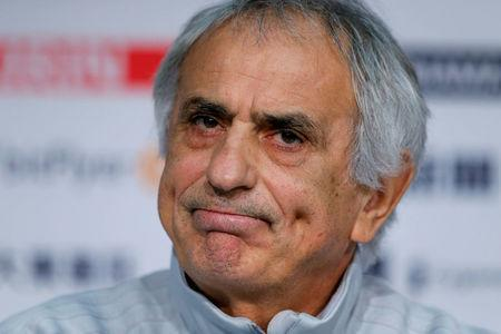 FILE PHOTO: Soccer Football - Japan Press Conference - Stade Pierre-Mauroy, Lille, France - November 9, 2017 Japan coach Vahid Halilhodzic during the press conference REUTERS/Pascal Rossignol/File Photo