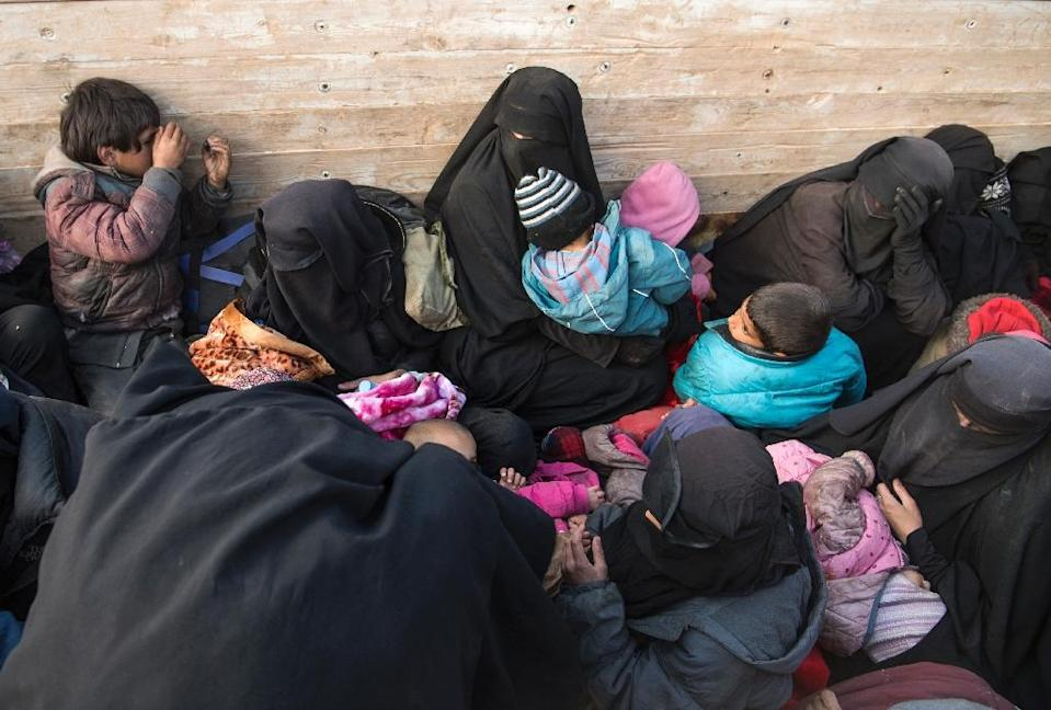 Many of the children were born to jihadist fighters who are now dead and to foreign mothers who now have nowhere to go because their home countries do not want them back (AFP Photo/Fadel SENNA)