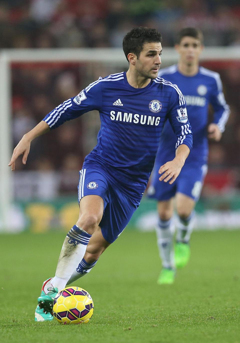 Cesc Fabregas joined Chelsea for the start of the 2014-2015 season and his team is currently sitting top of the Premier League (AFP Photo/Ian MacNicol)