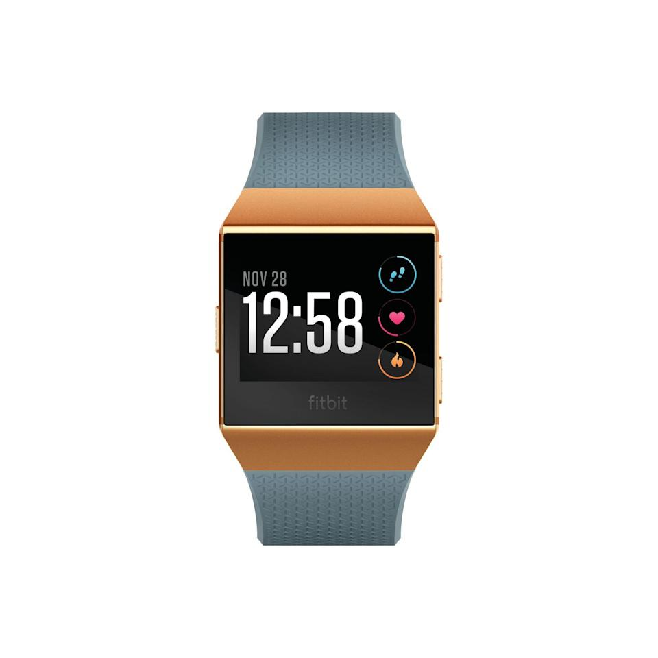 """<p><strong>Fitbit</strong></p><p>walmart.com</p><p><strong>$199.99</strong></p><p><a href=""""https://go.redirectingat.com?id=74968X1596630&url=https%3A%2F%2Fwww.walmart.com%2Fip%2F617905207&sref=https%3A%2F%2Fwww.cosmopolitan.com%2Fhealth-fitness%2Fg28172667%2Fbest-fitbit-for-women%2F"""" rel=""""nofollow noopener"""" target=""""_blank"""" data-ylk=""""slk:Shop Now"""" class=""""link rapid-noclick-resp"""">Shop Now</a></p><p>This one's for you. Much like the Versa Special Edition, the Ionic has built-in GPS tracking, heart-rate monitoring, Fitbit Coach workouts, push notifications, music storage, and card-less payment. But it's also got five days of battery (or 10 hours if you're using GPS), making it another awesome option for runners. Bonus: It pairs with bluetooth headphones (like<a href=""""https://www.walmart.com/ip/Fitbit-Flyer-Wireless-Headphones/927423659?wmlspartner=wlpa&selectedSellerId=0&adid=22222222227136444920&wl0=&wl1=g&wl2=c&wl3=245187400060&wl4=aud-566049426705:pla-401942750399&wl5=9067609&wl6=&wl7=&wl8=&wl9=pla&wl10=8175035&wl11=online&wl12=927423659&veh=sem&gclid=Cj0KCQjw6cHoBRDdARIsADiTTzYJe4Yx3kj8eLIMQZBehWDKzLbbyFTx6irReVRPsm5bhNa-Q44y8DwaAuzuEALw_wcB"""" rel=""""nofollow noopener"""" target=""""_blank"""" data-ylk=""""slk:these from Fitbit"""" class=""""link rapid-noclick-resp""""> these from Fitbit</a>).</p>"""