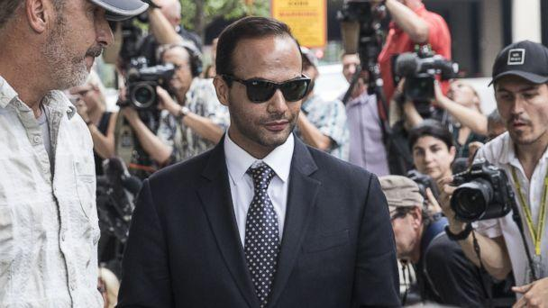 PHOTO: Former Trump Campaign aide George Papadopoulos leaves the U.S. District Court after his sentencing hearing, Sept. 7, 2018, in Washington, D.C. (Alex Wroblewski/Getty Images)
