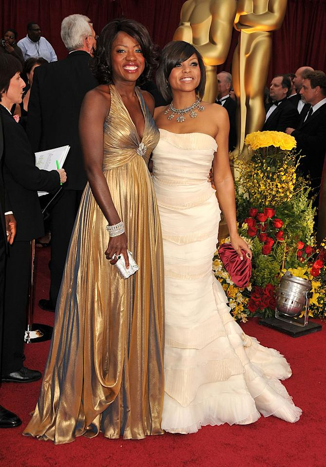 Viola Davis and Taraji P. Henson at the 81st Annual Academy Awards - Feb. 22, 2009