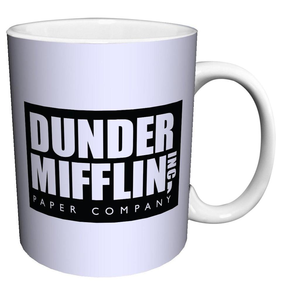 <p>This <span>Dunder Mifflin Mug</span> ($13) is the perfect office coffee cup.</p>