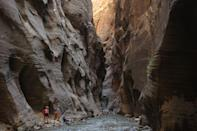 """<p>Zion National Park's <a href=""""https://www.tripadvisor.com/Attraction_Review-g143057-d103399-Reviews-The_Narrows-Zion_National_Park_Utah.html"""" rel=""""nofollow noopener"""" target=""""_blank"""" data-ylk=""""slk:""""The Narrows"""""""" class=""""link rapid-noclick-resp"""">""""The Narrows""""</a> provides a one-of-a-kind hiking experience. Instead of walking traditional trails, you'll be jaunting through rivers that weave through caves and shadowy passes.</p><p><br><a class=""""link rapid-noclick-resp"""" href=""""https://go.redirectingat.com?id=74968X1596630&url=https%3A%2F%2Fwww.tripadvisor.com%2FAttraction_Review-g143057-d103399-Reviews-The_Narrows-Zion_National_Park_Utah.html&sref=https%3A%2F%2Fwww.countryliving.com%2Flife%2Ftravel%2Fg24487731%2Fbest-hikes-in-the-us%2F"""" rel=""""nofollow noopener"""" target=""""_blank"""" data-ylk=""""slk:PLAN YOUR HIKE"""">PLAN YOUR HIKE</a></p>"""