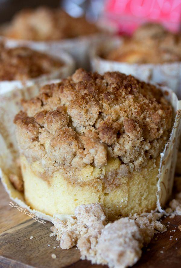 "<p>Crumb toppings=dangerously addicting.</p><p>Get the recipe from <a href=""http://www.tablefortwoblog.com/new-york-style-coffee-cake-crumb-muffins-2/"" rel=""nofollow noopener"" target=""_blank"" data-ylk=""slk:Table for Two"" class=""link rapid-noclick-resp"">Table for Two</a>.</p>"