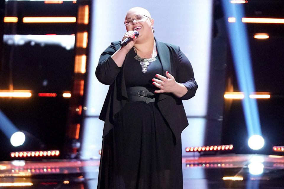 """THE VOICE -- """"Blind Auditions"""" -- Pictured: Holly Forbes"""