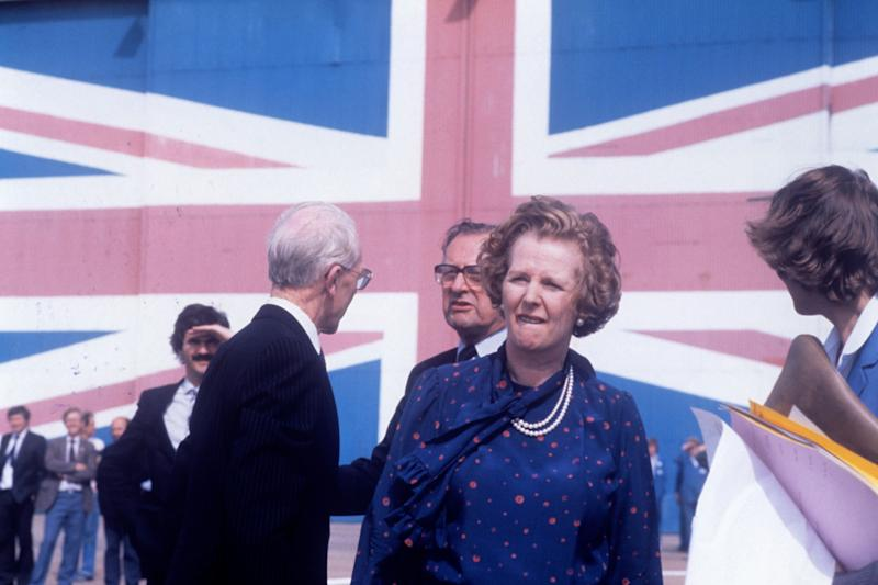 Mrs Thatcher campaigning on the Isle of Wight during the 1983 General Election (PA)