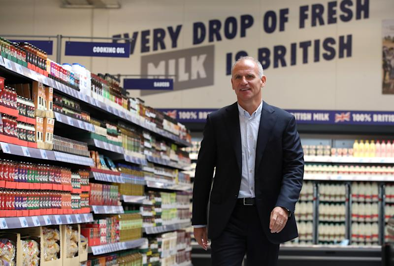 Dave Lewis, Tesco CEO stands inside Tesco's new discount supermarket Jack's, in Chatteris, Britain, September 19, 2018. REUTERS/Chris Radburn