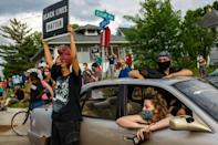Protesters took to the streets of Minneapolis over the death in custody of a black man