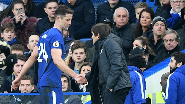 Antonio Conte does not expect Gary Cahill to be ruled out for long after the Chelsea defender injured his right hamstring on Saturday.