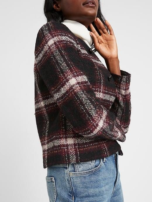 <p>Now is a great tine to get a deal on this warm wool-and-alpaca <span>Banana Republic Italian Bouclé Jacket</span> ($80, originally $198).</p>