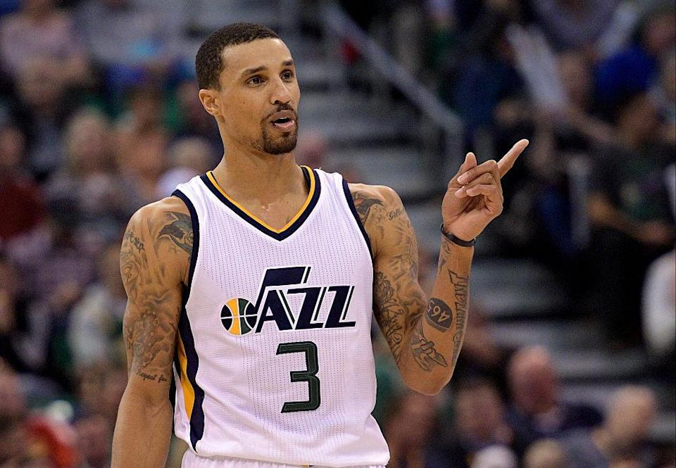 George Hill just realized we were talking about him. (Getty Images)