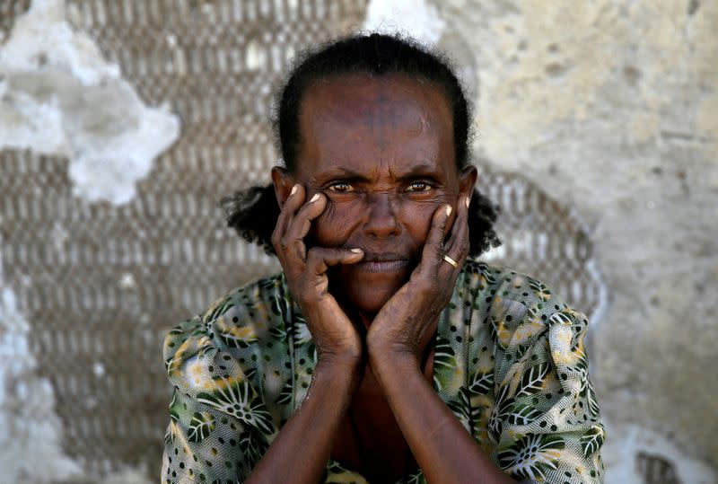 FILE PHOTO: An Ethiopian refugee fleeing from the ongoing fighting in Tigray region, is seen at the Fashaga camp, on the Sudan-Ethiopia border, in Kassala state
