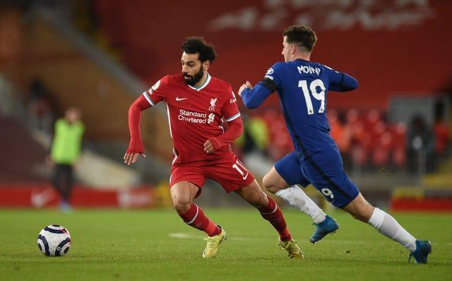 Mohamed Salah (left) could not find a way past Chelsea