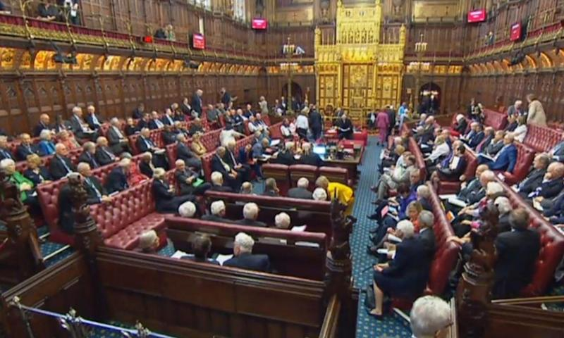 The 'meaningful vote' amendment was passed by 354 votes to 235 – a majority of 119