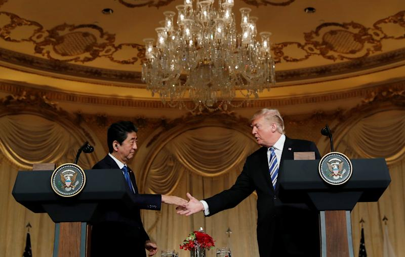 Trump and Abe to meet before North Korea summit