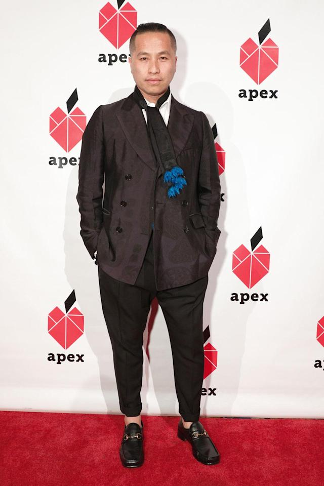 "<p>Fashion designer Phillip Lim offers these words of wisdom: ""Being a minority myself, being an immigrant myself, people are always asking me 'How do you find success?' Here's how you do it. You turn around and bring people along. Keep going, keep going; it [success] will find you.""<br> (Photo: BFA/courtesy of Apex for Youth) </p>"