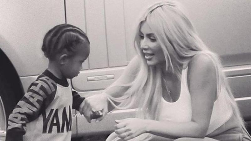 Kim Kardashian Posts Cute New Pic of Son Saint West on a Motorcycle