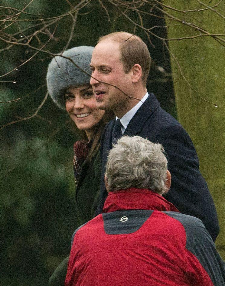 The Duchess of Cambridge wore a fur hat to church ahead of her birthday.