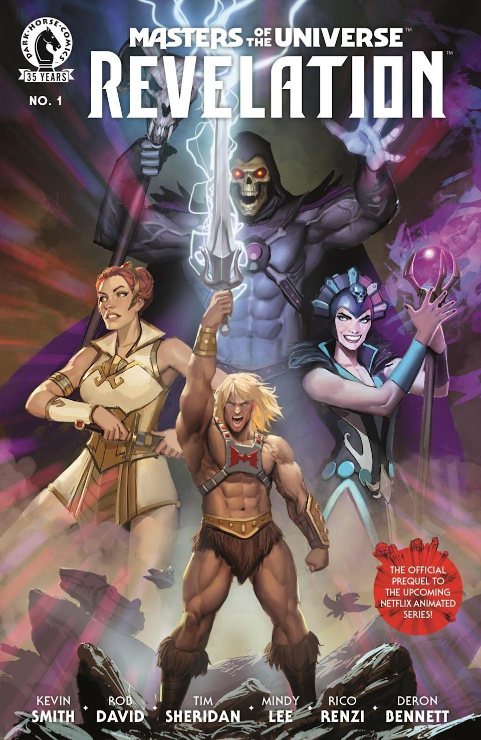 The cover for Dark Horse Comics' Masters of the Universe: Revelation #1.