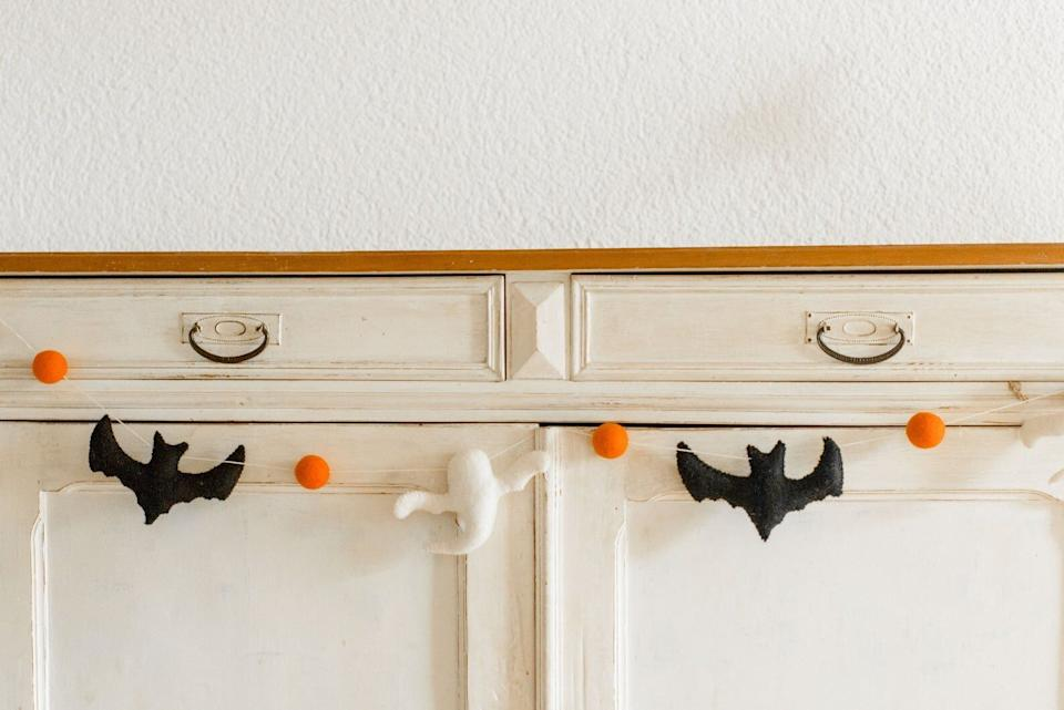 "Luckily, you won't have to worry about these ghosts and bats flying all over the place. <a href=""https://fave.co/3nYJ7pG"" target=""_blank"" rel=""noopener noreferrer"">Find it for $23 on Etsy</a>."