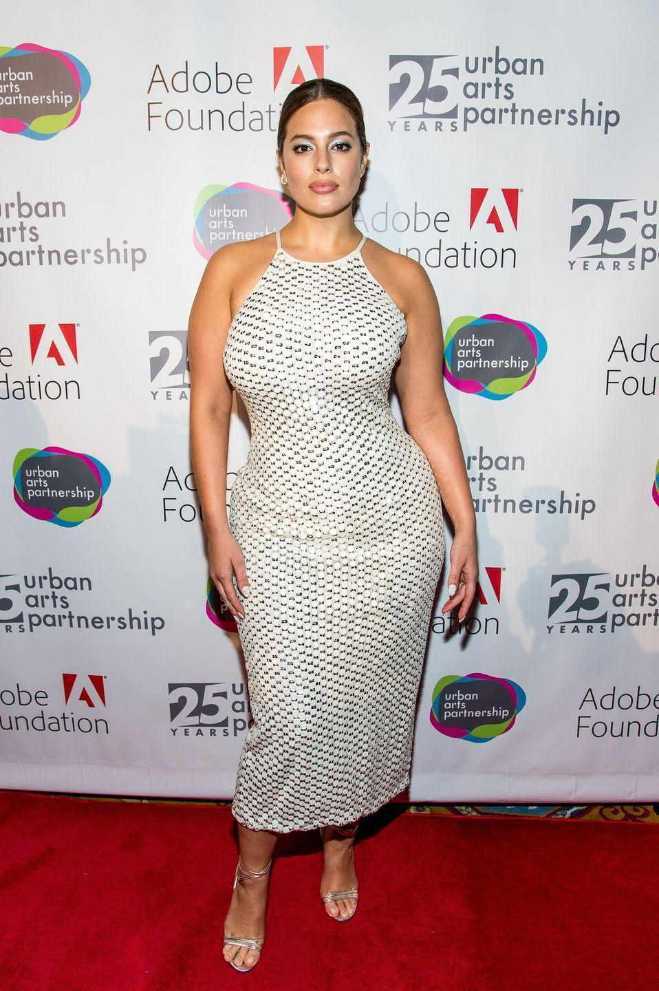 <p>Urban Arts Partnership 25th Anniversary, 2017: The shape of this halter on Ashley is all the fire.</p>