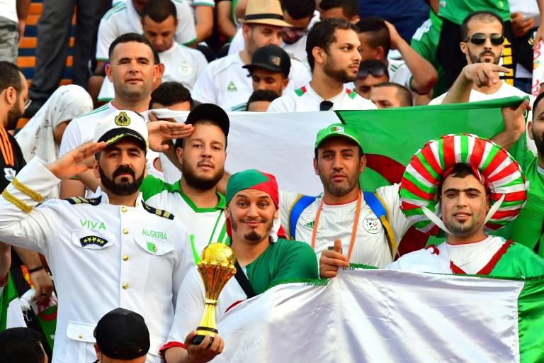Algerian supporters outnumbered their Senegalese counterparts at the Cairo International Stadium