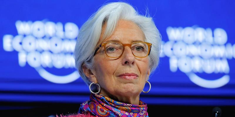 Christine Lagarde, Managing Director of the International Monetary Fund, attends the World Economic Forum (WEF) annual meeting in Davos, Switzerland January 26, 2018.
