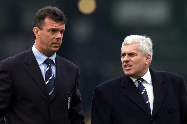 After O'Leary was sacked by Leeds, chairman Peter Risdale (right) spoke about the money invested in players and failure to qualify for the Champions League (Nick Potts/PA).