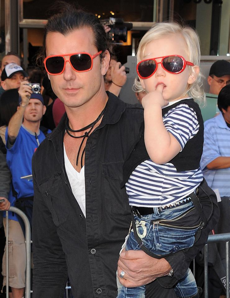 """<a href=""""http://movies.yahoo.com/movie/contributor/1804486112"""">Gavin Rossdale</a> and son Zuma attend the Los Angeles premiere of <a href=""""http://movies.yahoo.com/movie/1810080528/info"""">Gnomeo & Juliet</a> on January 23, 2011."""